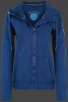 Yacht Hoodie Lady, French Terry 400, Darknavy