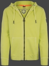 Yacht Hoodie Men, French Terry 400, Sunnylime
