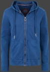 Yacht Hoodie Men, French Terry 400, Darknavy