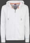 Yacht Hoodie Men, French Terry 400, White