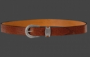 Leatherbelt Moby, RealLeather, Cognac